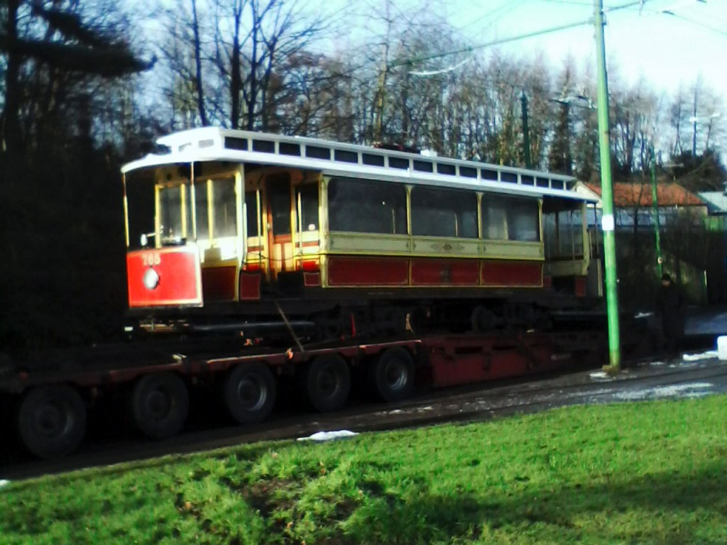 Manchester 765 shortly after arrival at Beamish.