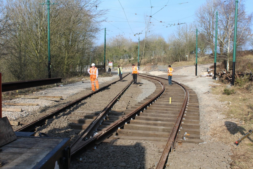 A preview of the revised track layout with new rails in situ - but no siding! (Photos by Peter Whiteley)