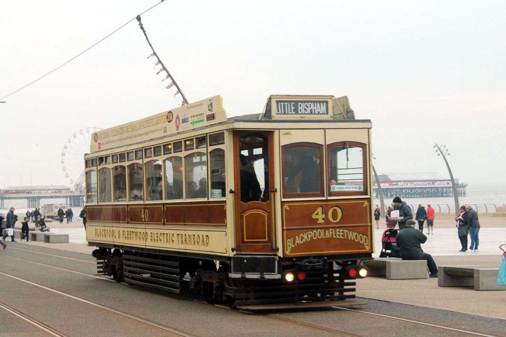 Box 40 proved to be popular with passengers throughout both days. Here we see the tram approaching North Pier/Tower heading to Little Bispham.