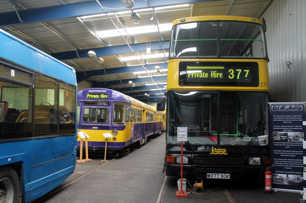 Twin Car 674+684 on display with a Blackpool Transport Olympian for company.