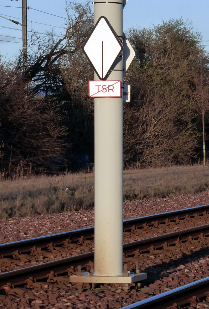 The end of section TSR sign.