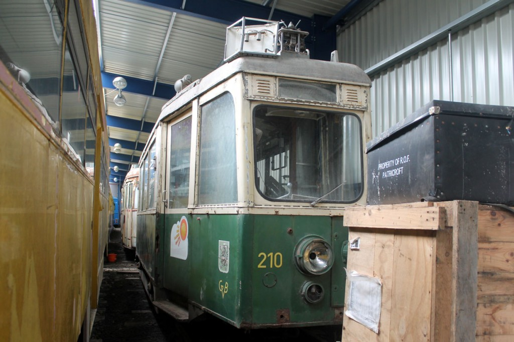 One of the two trams in the collection not from Blackpool is Graz 210 which is seen here alongside Centenary 647.