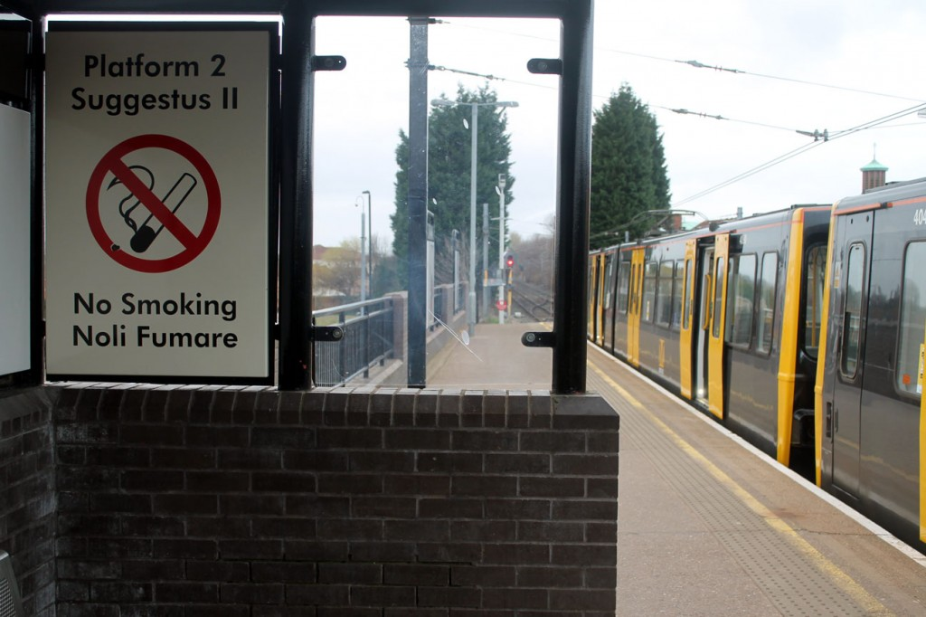 How about a bit of Latin? Well, that's what you get at Wallsend! Wouldn't imagine you get that at many light rail stations in the UK!