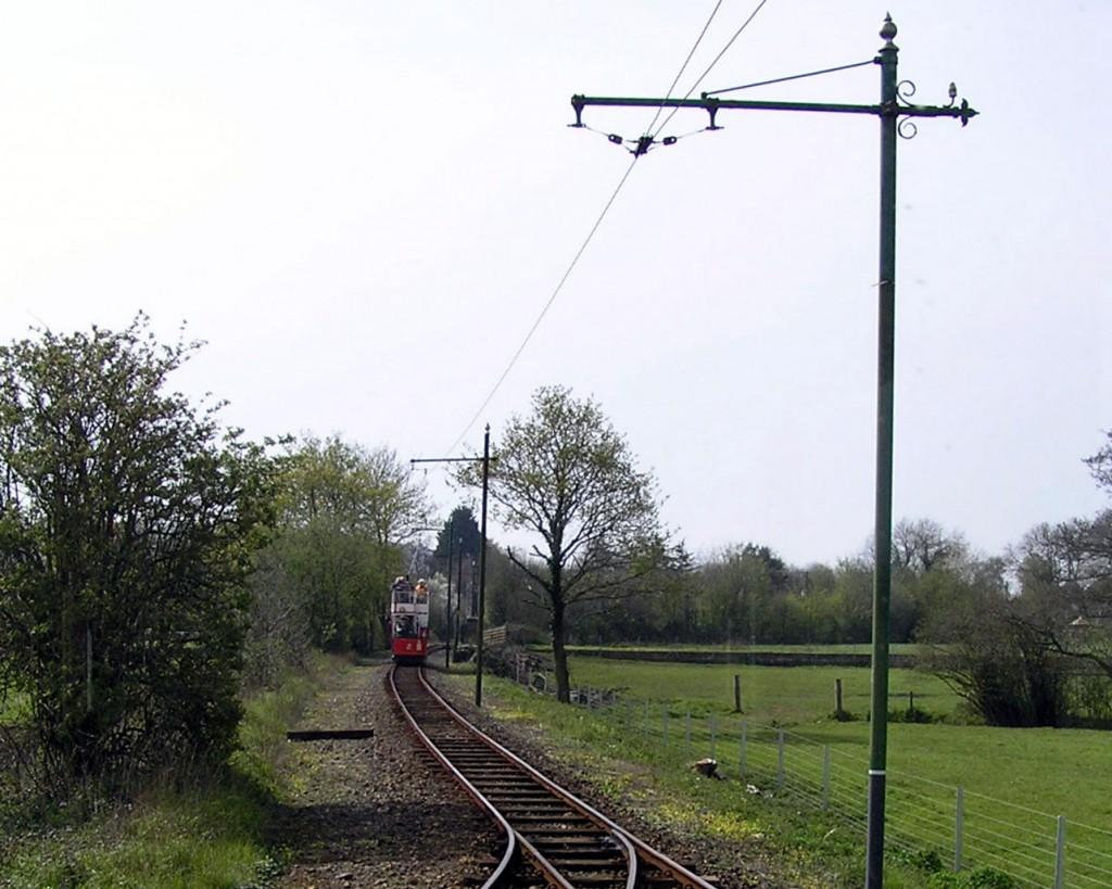 Work on tree cutting has taken place on the west side of the track from before Tye Lane loop to Cownhayne loop. In this image we see 2 approaching Tye Lane loop.
