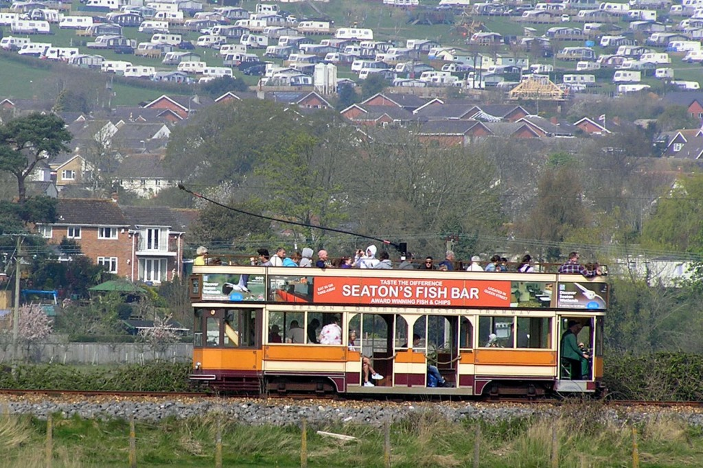 Another shot of 10 as it heads towards Axmouth loop. Judging by the caravan park on the hill Seaton was the place to be!