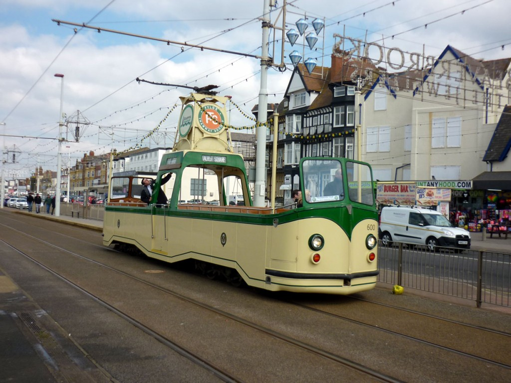 The second Boat in action was 600 and the tram is seen here heading through the stop at South Pier whilst the destination blinds are changed for its next northbound trip.