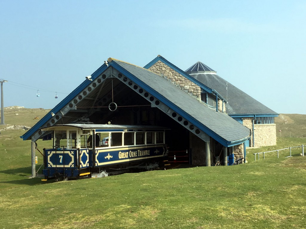 And the last of the quarter is no. 7 which is again seen at Halfway. The winding room at Visitor Centre is seen to good effect in this shot whilst on the left hand side the Great Orme Cable Car can be seen. (All Photographs by David Stringer, 8th April 2019)