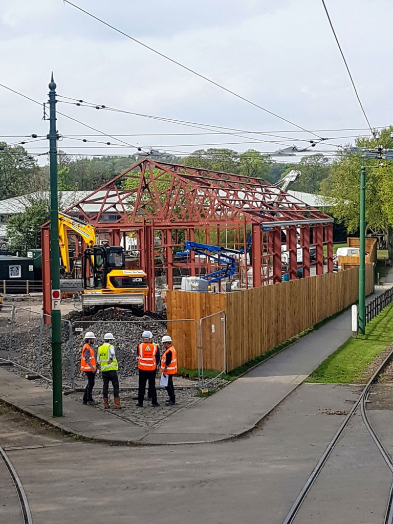 Meanwhile progress is continuing at a pace with the new bus depot.