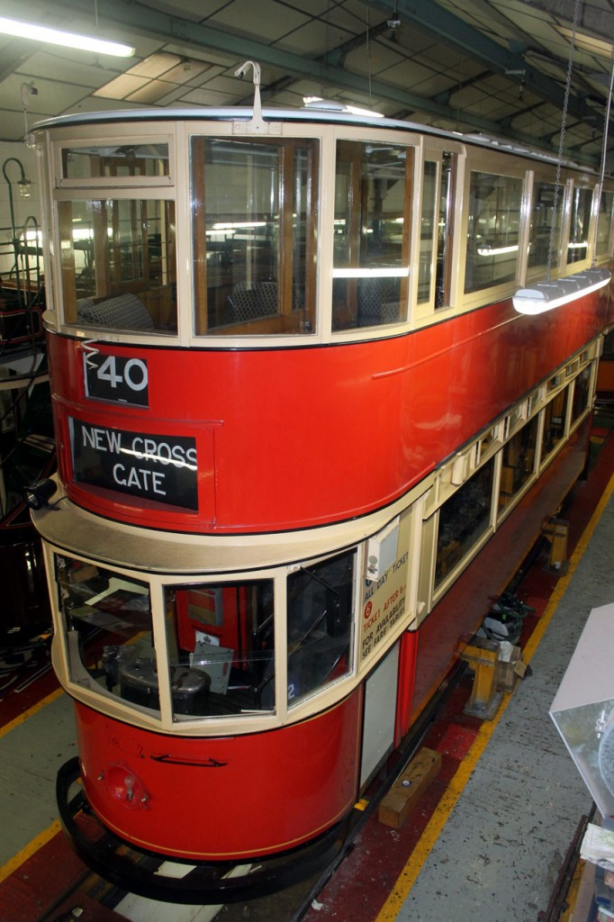 Inside the workshop and we see London Transport 1622 under attention with a view to it returning to service this year.