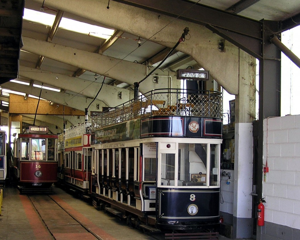 Inside Riverside Depot where 8, 14, 2 and 6 all await their next duty.