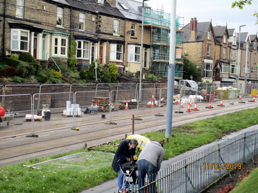The worksite along Middlewood Road is seen here with the area to be attended to being fenced off.