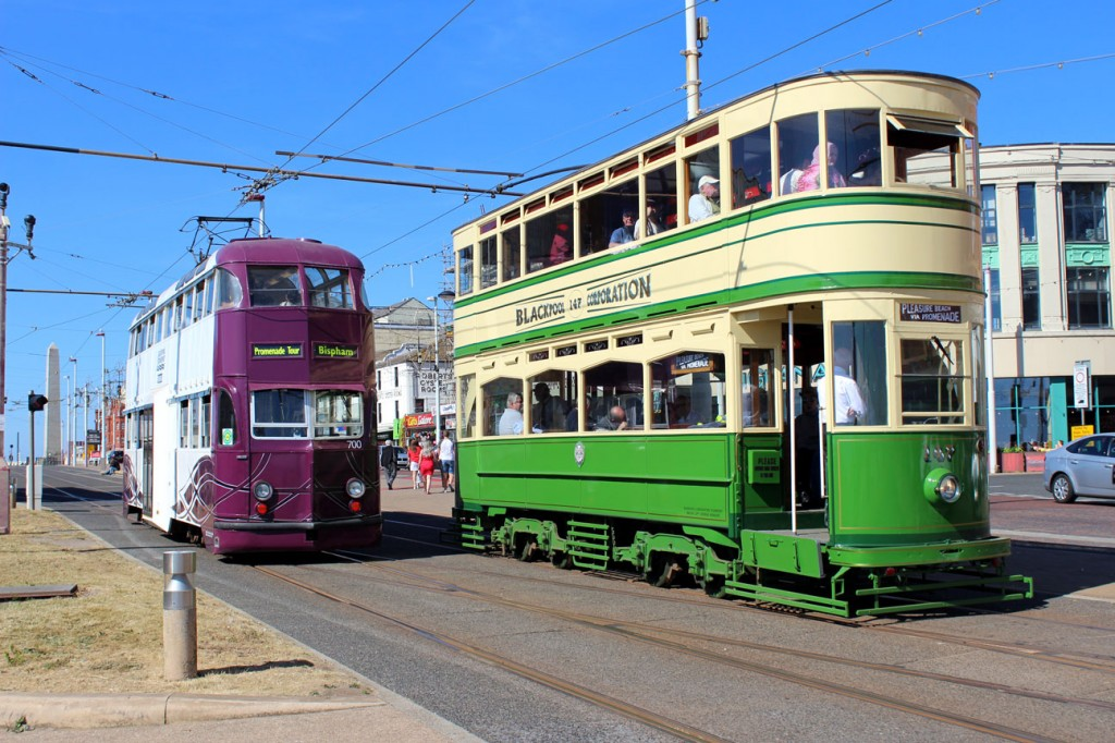 Two trams due to run again over this Gold weekend are Balloon 700 and Standard 147. They are caught here on camera on 24th June 2018 during a previous Gold timetable. (Photograph by Gareth Prior)