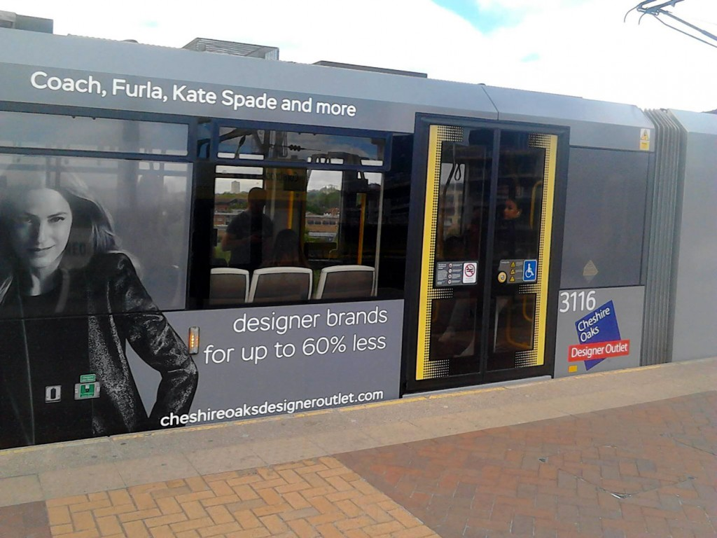 A close-up of some of the detail of the advert including the vinyl free window. (Both Photographs by Reece Hughes)