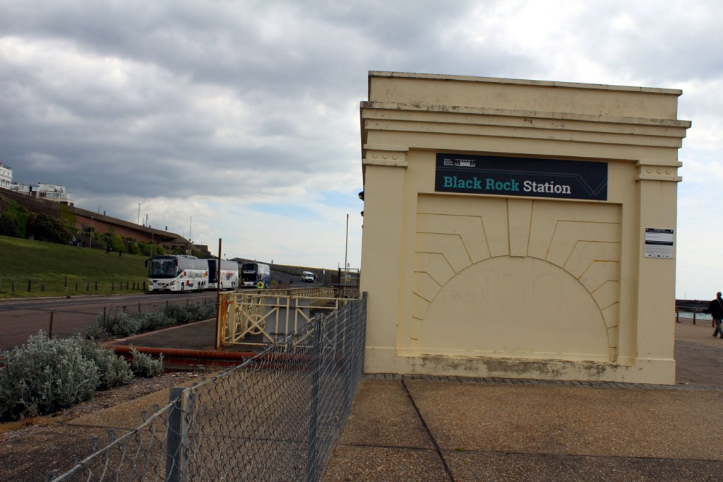 Black Rock Station and platform – no trains here either!