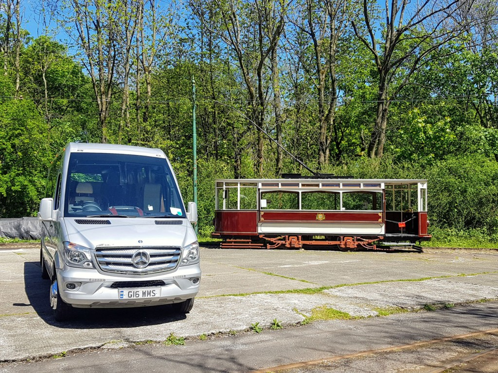 24 hours later and Hull 96 is stabled outside Middleton Road Depot. Alongside is the photographers vehicle for the day – Weardale Motors G16WMS minibus.