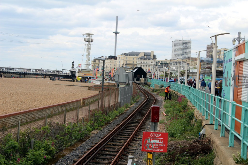 And no trains on the section to the station and visitor centre at Palace Pier. But there was a litter picker! (All Photographs by Gareth Prior, 6th May 2019)