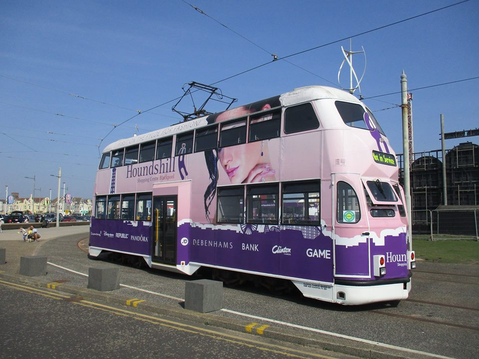 713 parked on the Pleasure Beach outer loop with an Easter Egg hunt taking place on board!