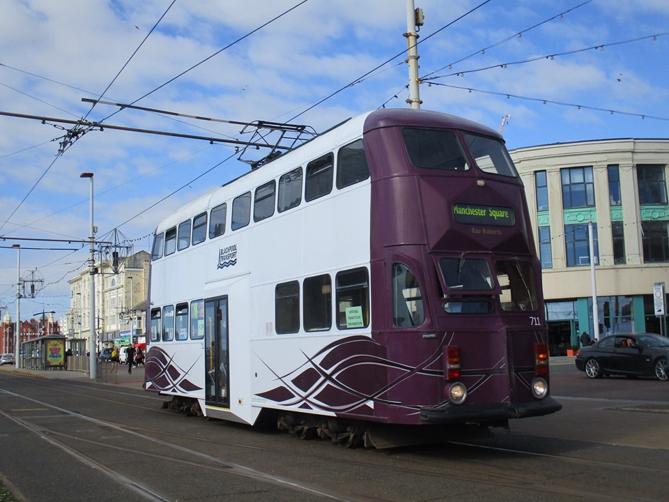 Another view of 711 at North Pier from May 5th as the tram returns south with one of its passenger journeys.