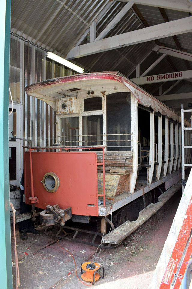 29 seen through the doors of the paint shop. (Both Photographs courtesy of Manx Electric Railway Online)
