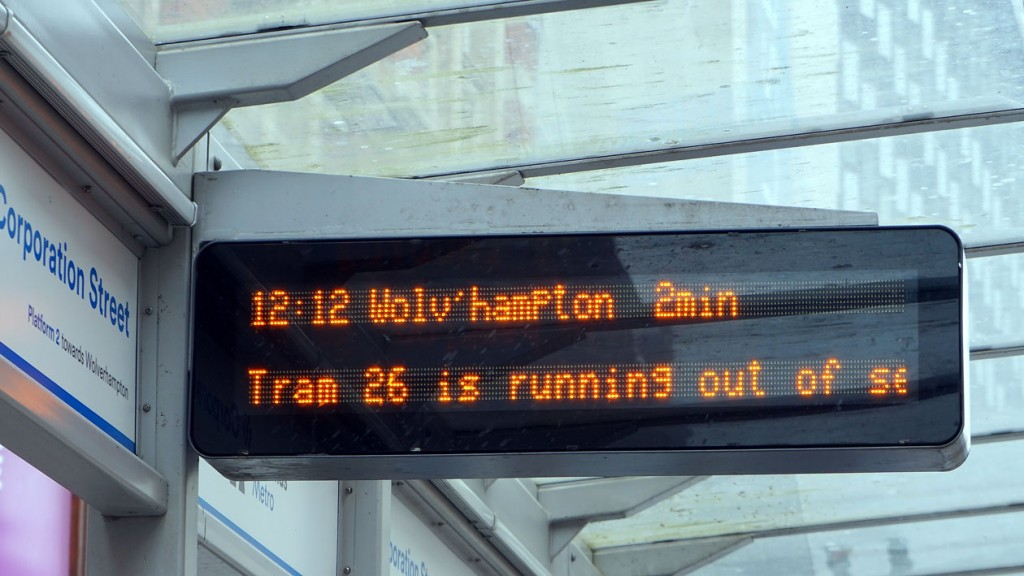 Even the passenger information displays let you know 26 wasn't in service!