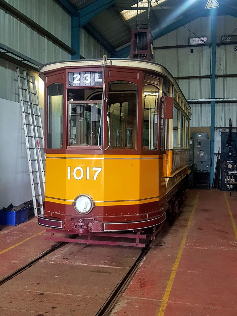 And inside that very depot are the other operational trams. Here is Glasgow 1017.