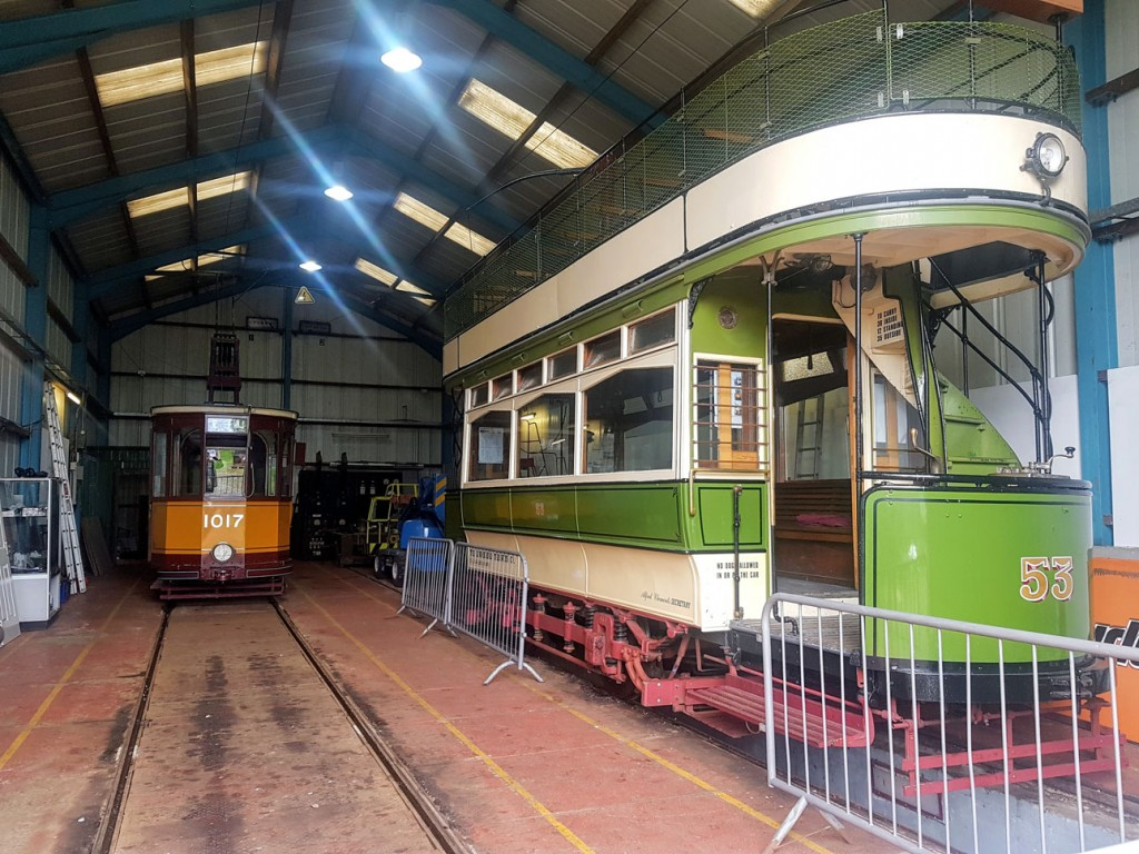 A general view inside the depot showing 1017 and 53 awaiting their turn in service. (All Photographs by David Maxwell, 6th June 2019)