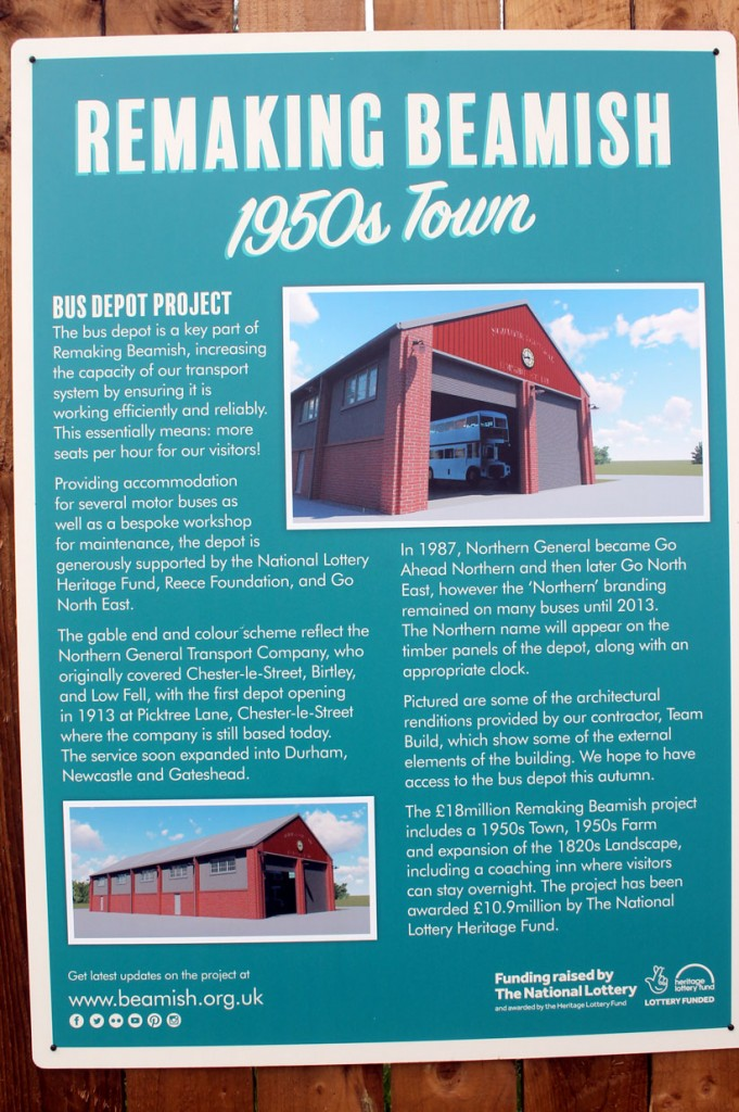 The bus depot continues to be built and this information poster gives more details of what is coming.  (All Photographs by Trevor Hall, 4th June 2019)