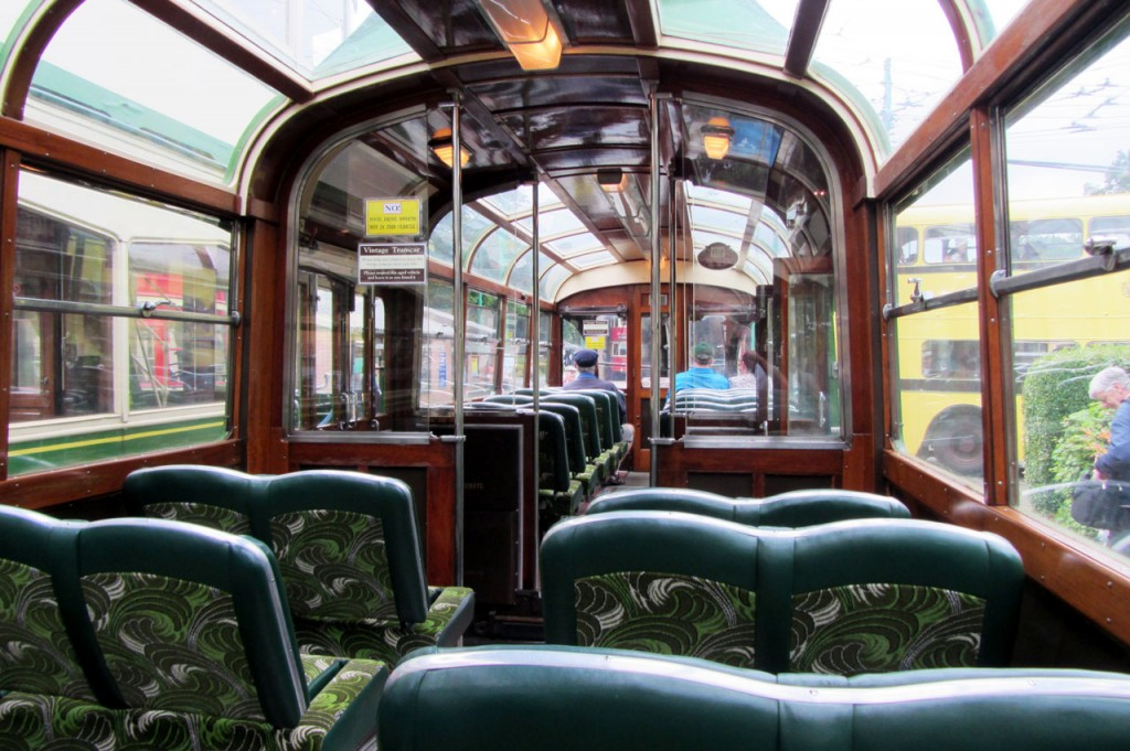 Inside Marton VAMBAC 11 showing the unmistakeable moquette used in Blackpool.