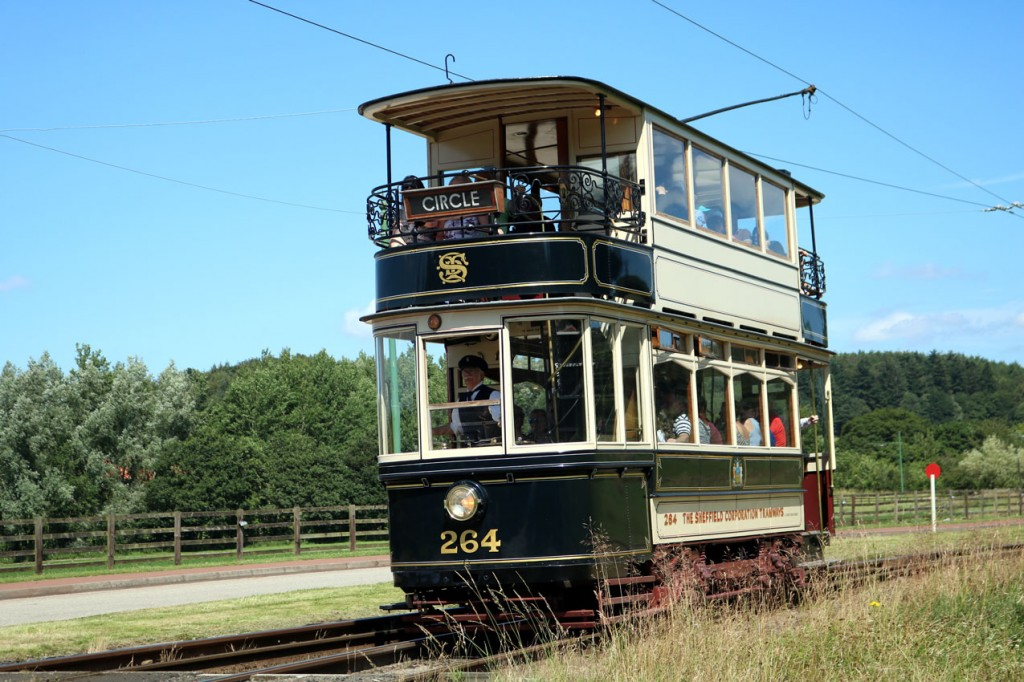 Also running clockwise was Sheffield 264, seen again at Pockerley.