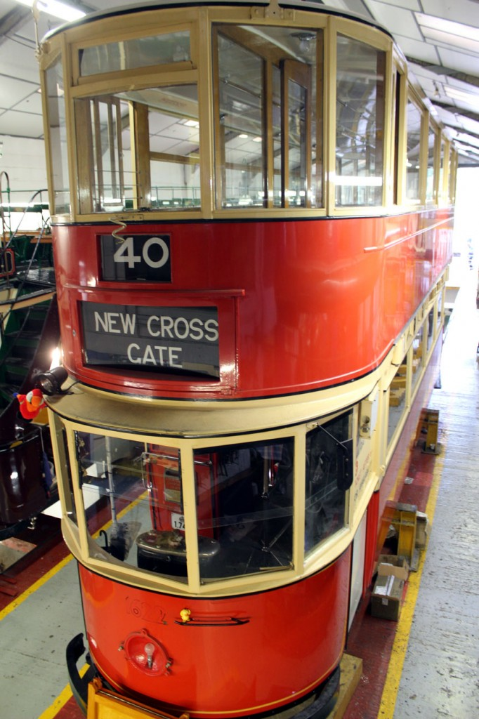Another look at 1622 at the rear of the Workshop. Here you can see that the tram currently remains lifted.