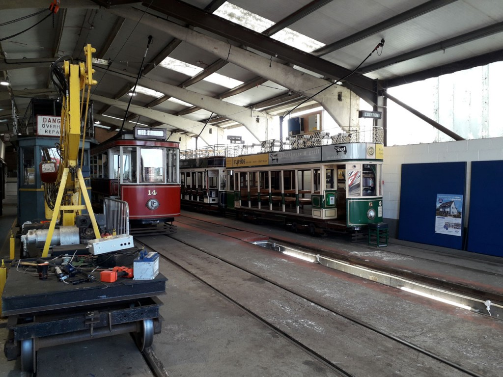 Inside the depot and we see 6 at the front having completed its test run earlier in the day. Also in situ and visible here are 8 (behind 6), 14 and Works Car 02. (All Photographs by Paul Hudd, 3rd July 2019)