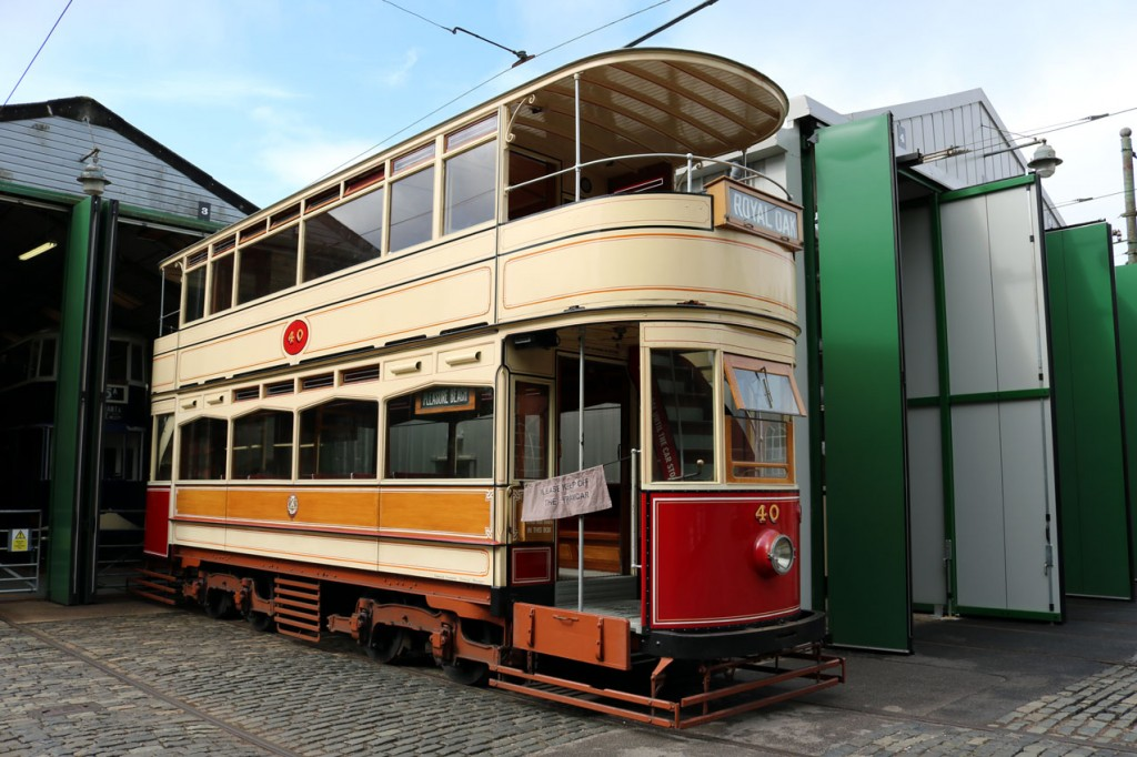 Blackpool 40 was also to be seen out in the open during the morning. This view shows it just outside the Workshop. (All Photographs by Trevor Hall, 20th July 2019)