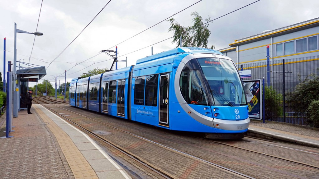 28 in the blue livery at Wednesbury Great Western Street.