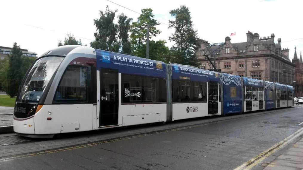 264 in St Andrew Square showing off its new advert for American Express.