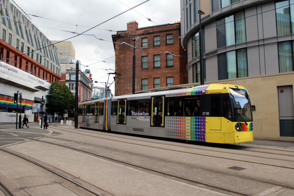 3118 shows off its Rainbow Tram condition as it approaches Victoria off 2CC. (Both Photographs by Gareth Prior, 11th September 2019)