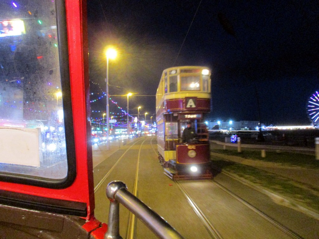Taken from on board Boat 227 another of the first night's tour cars is seen here in the shape of Bolton 66.