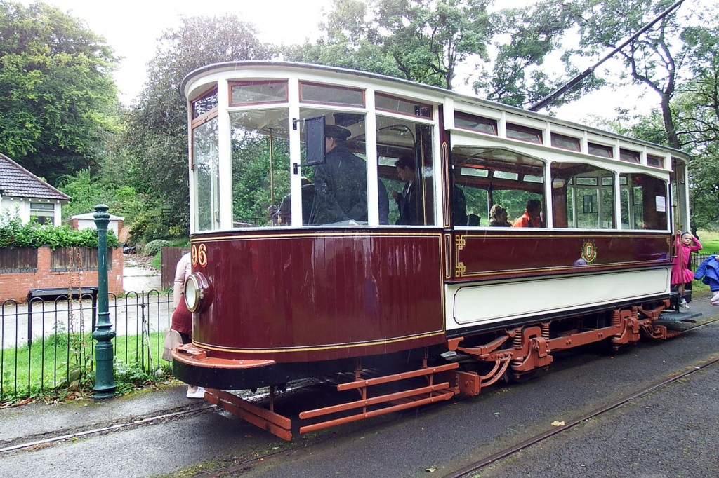 The third passenger tram available for service is Hull 96 and we see it here at Middleton Road Gates.