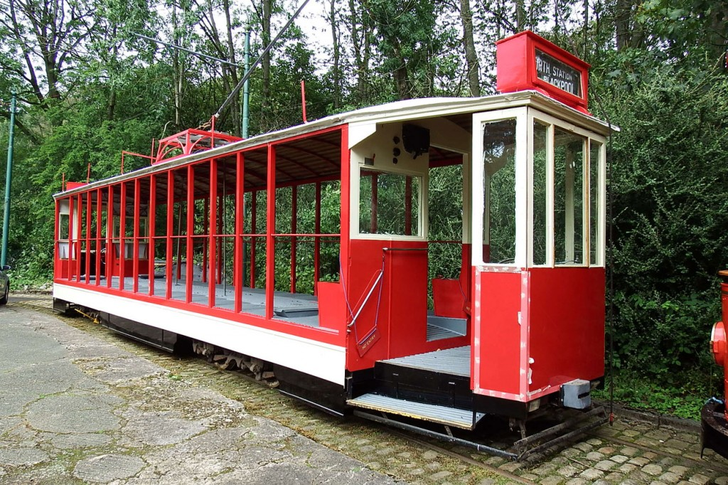 As was Blackpool 619. Another tram enjoying workshop attention this tram still requires various jobs to be completed – not least the fitting of seats! – before it too enjoys a period of operation again.