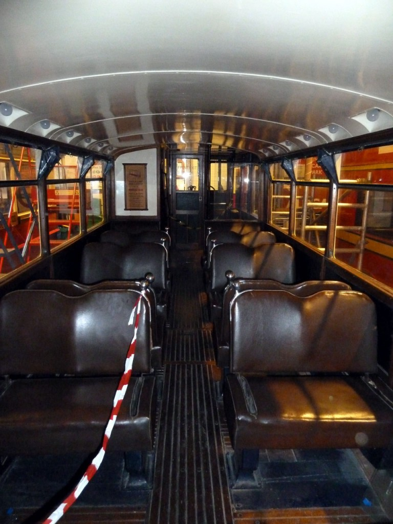 The lower deck interior of 355. (Both Photographs by Robert Blackburn)