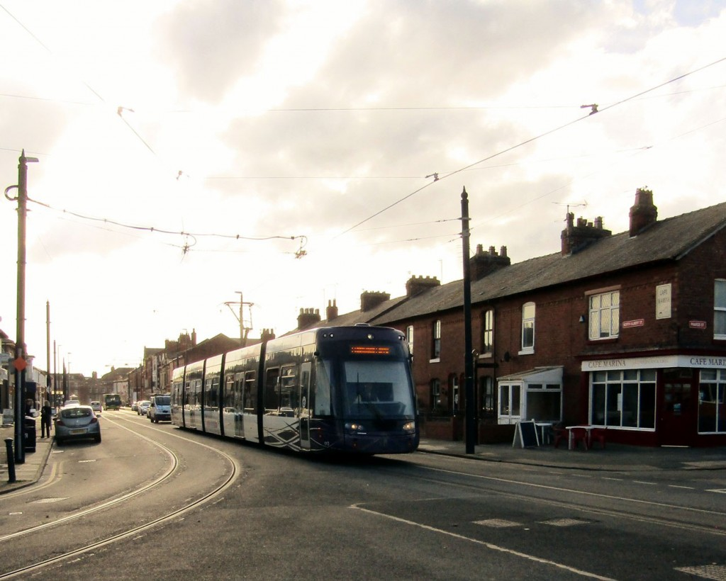 We actually start with a Flexity with 013 on North Albert Street as it approaches journeys end in Fleetwood.