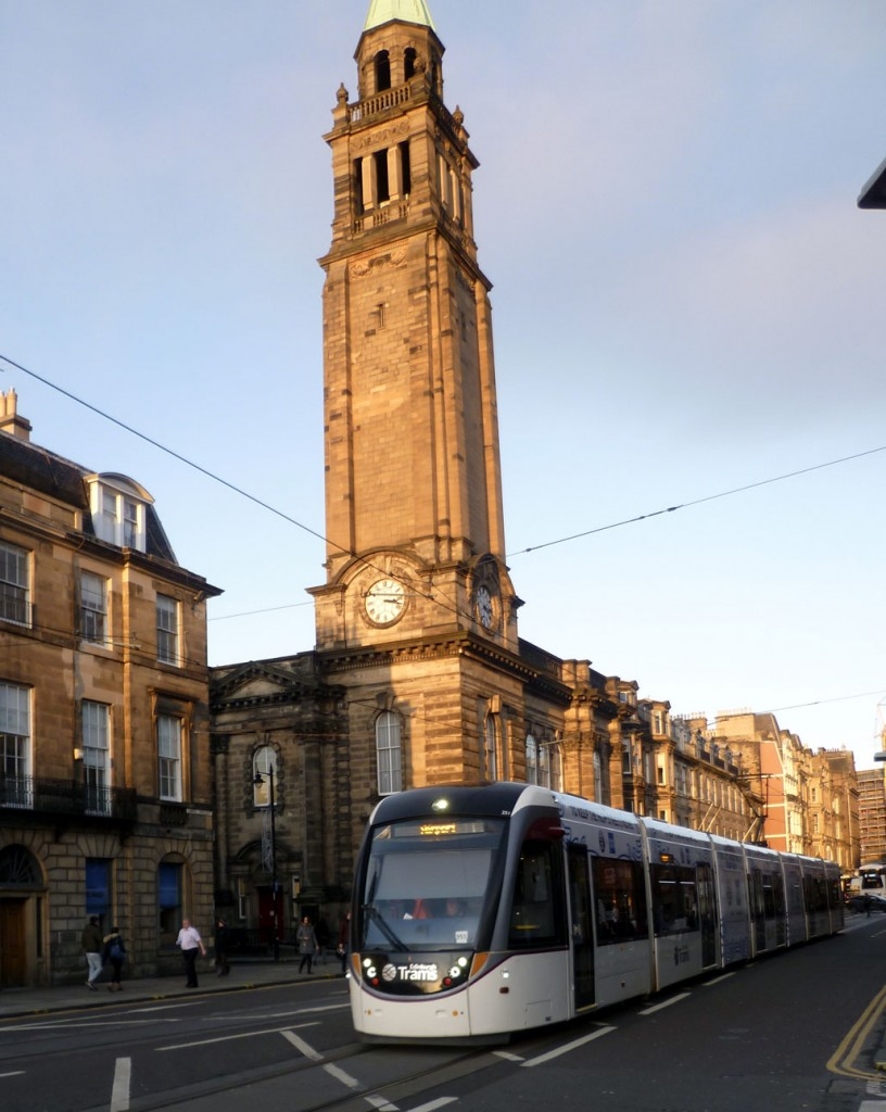251 heads for the Airport as it travels through Shandwick Place. (Photograph by Roy Calderwood, 28th November 2019)