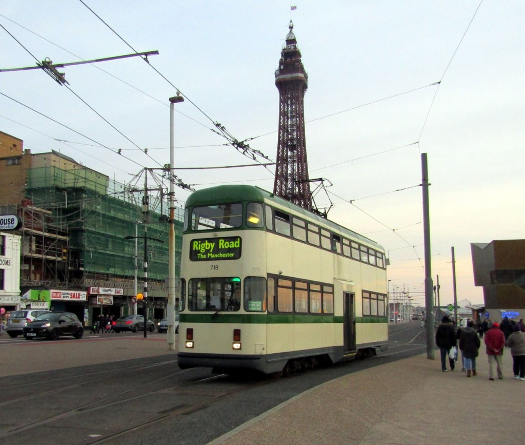 The second tram on heritage tours was Balloon 718. Here we see the tram at North Pier/Tower with it just having terminated and about to return to depot.