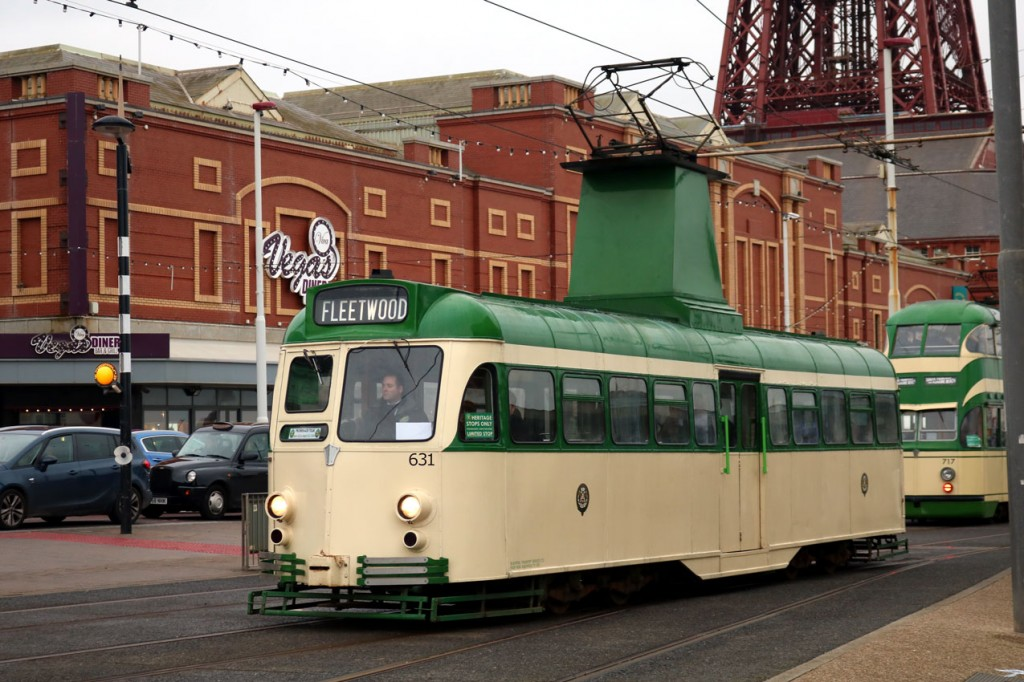631 at North Pier/Tower on its way to Fleetwood.