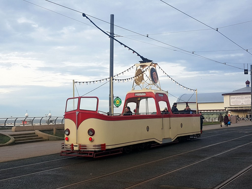 The unusual sight of 227 at Tower and North Pier heritage stop in December with a smattering of passengers waiting for a trip down to Pleasure Beach.