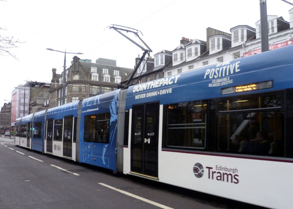 On 14th January and 264 runs along Princes Street shortly after having received its new advert.