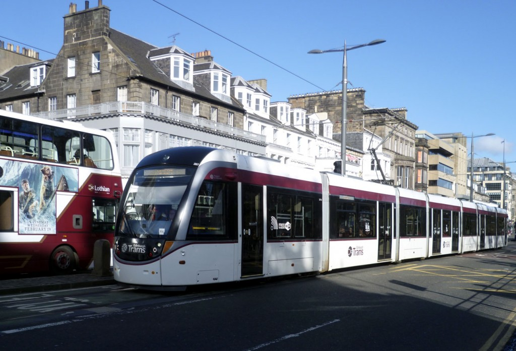 Another look at one of the trams in the fleet which can be found without any adverts on the exterior as 267 is caught in Princes Street bound for the Airport. (All Photographs by Roy Calderwood, 29th February 2020)