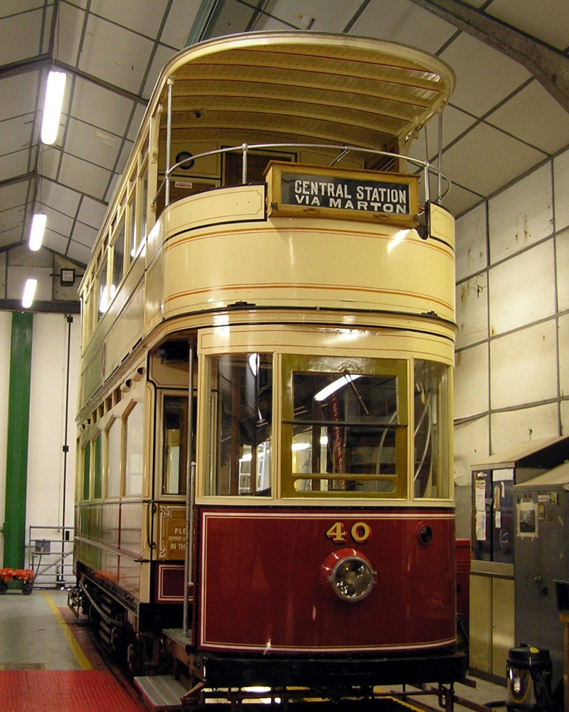 The fourth tram in the Workshop on this day was Blackpool 40. A much shorter stay for this tram which is expected to be part of the 2020 operating fleet at the museum. (All Photographs by Keith Chadbourne, 7th February 2020)