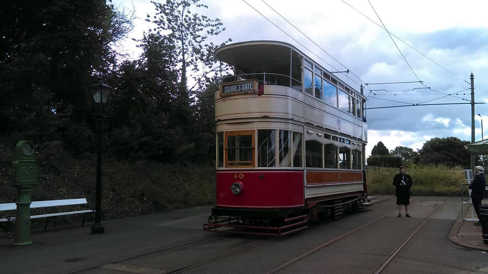 Blackpool Standard 40 stands at Town End terminus ready for departure on Saturday 11th July.